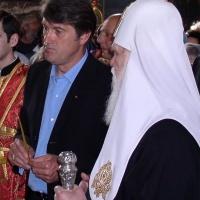 Патріарх Філарет і Віктор Ющенко (2003 р.)