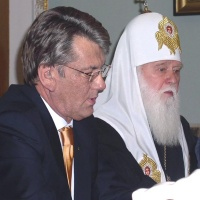 Патріарх Філарет і Віктор Ющенко (зустріч)