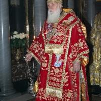 Святійший Патріарх Філарет під час богослужіння